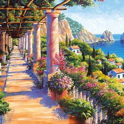 Пазл онлайн: Capri Colonnades /Колоннада Капри