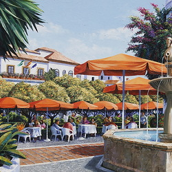 Пазл онлайн: Оранжевая площадь