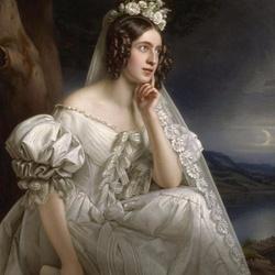Пазл онлайн: Жозефина Штилер как невеста
