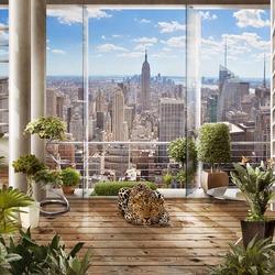 Пазл онлайн: Вид с террасы