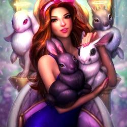 Пазл онлайн: Джали и кролики