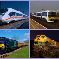 Пазл онлайн: Поезда