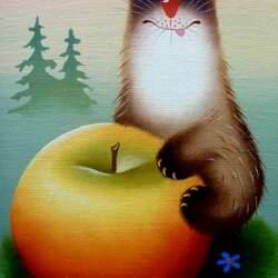Пазл онлайн: Любитель яблок