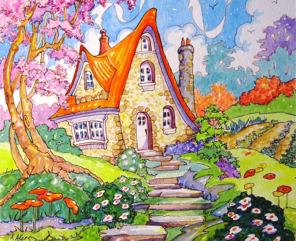 Сказочные домики картинки рисунки