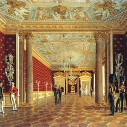 Пазл онлайн: Тронный зал императрицы Марии Федоровны в Зимнем дворце