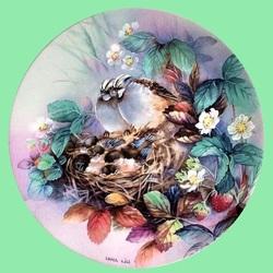Пазл онлайн: Птичье семейство