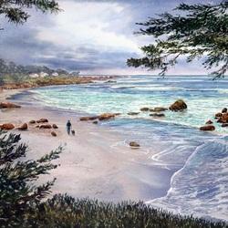 Пазл онлайн: Прогулка по морскому берегу