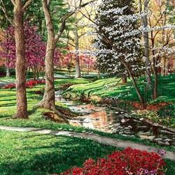 Пазл онлайн: Весна в парке