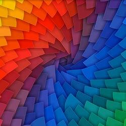 Пазл онлайн: Разноцветные лепестки
