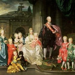 Пазл онлайн: Леопольд, великий герцог Тосканы, его жена Мария-Луиза и их дети