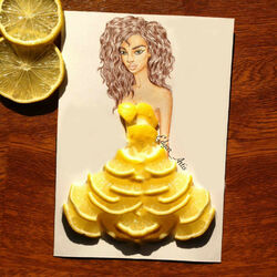 Пазл онлайн: Лимонное платье