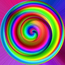 Пазл онлайн: Радужный круг
