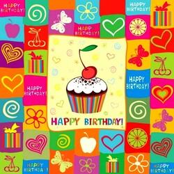Пазл онлайн: С Днем рождения!