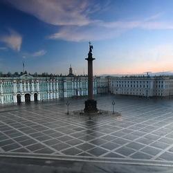 Пазл онлайн: Утро на Дворцовой площади