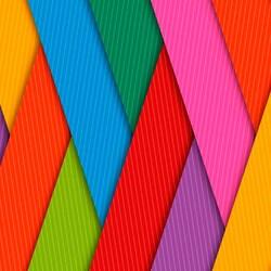 Пазл онлайн: Разноцветные ленты