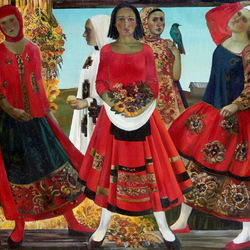 Пазл онлайн: Деревенский праздник