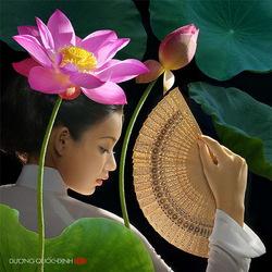 Пазл онлайн: Цветущий лотос