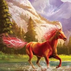 Пазл онлайн: Конь-огонь