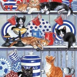 Пазл онлайн: Кошачий беспредел