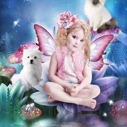 Пазл онлайн: Девочка-фея