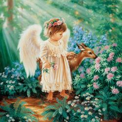 Пазл онлайн: Тихий ангел