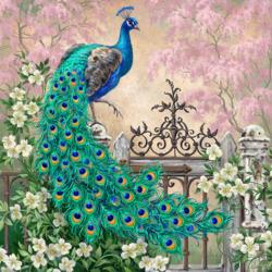 Пазл онлайн: Красавец павлин