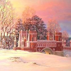 Пазл онлайн: Вечером в Царицыно