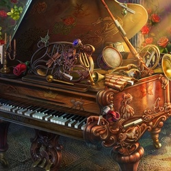 Пазл онлайн: Пианино