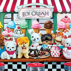 Пазл онлайн: Домашнее мороженое