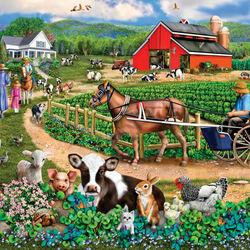 Пазл онлайн: Семейная ферма