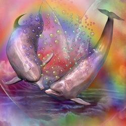 Пазл онлайн: Дельфины