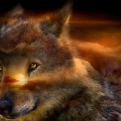 Пазл онлайн: Земля волка