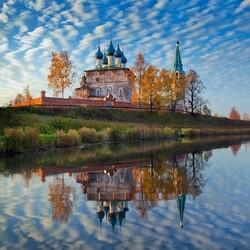 Пазл онлайн: Вид на монастырь