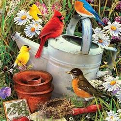 Пазл онлайн: Птичий сад