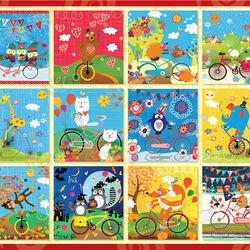 Пазл онлайн: Праздничные велосипедисты