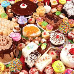 Пазл онлайн: Пирожные и торты