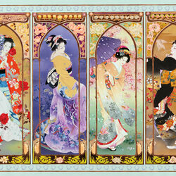 Пазл онлайн: Японские красавицы