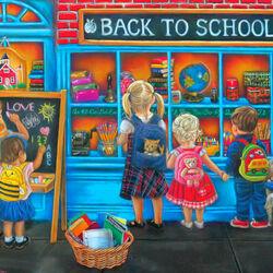 Пазл онлайн: Снова в школу