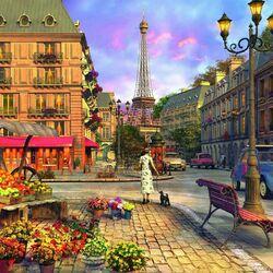 Пазл онлайн: Прогулка по Парижу