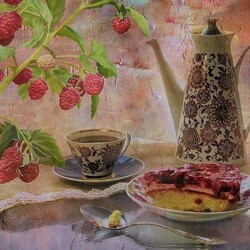 Пазл онлайн: Малиновый тортик