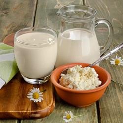 Пазл онлайн: Порция молока и творога