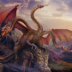 Пазл онлайн: Змей-Горыныч