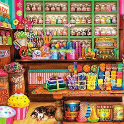 Пазл онлайн: Магазин сладостей