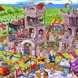 Пазл онлайн: Замок XIV века