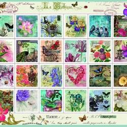 Пазл онлайн: Винтажные марки