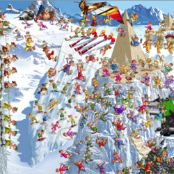 Пазл онлайн: Веселый альпинизм