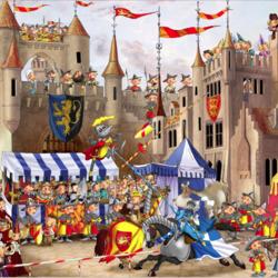 Пазл онлайн: Рыцарский турнир
