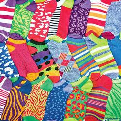 Пазл онлайн: Разноцветные носки
