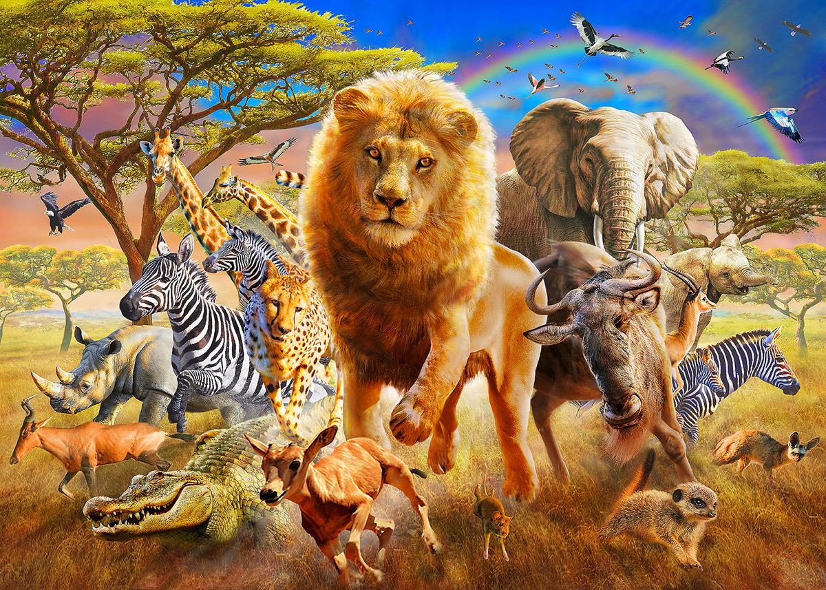Картинка африки с животными