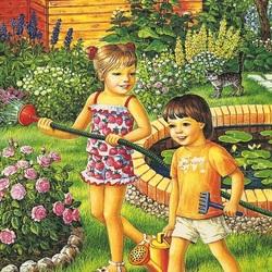 Пазл онлайн: Веселые летние дни